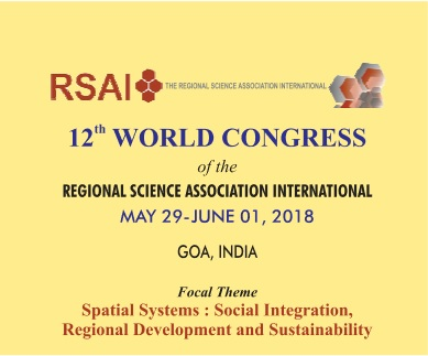 12TH WORLD CONGRESS of the REGIONAL SCIENCE ASSOCIATION INTERNATIONAL