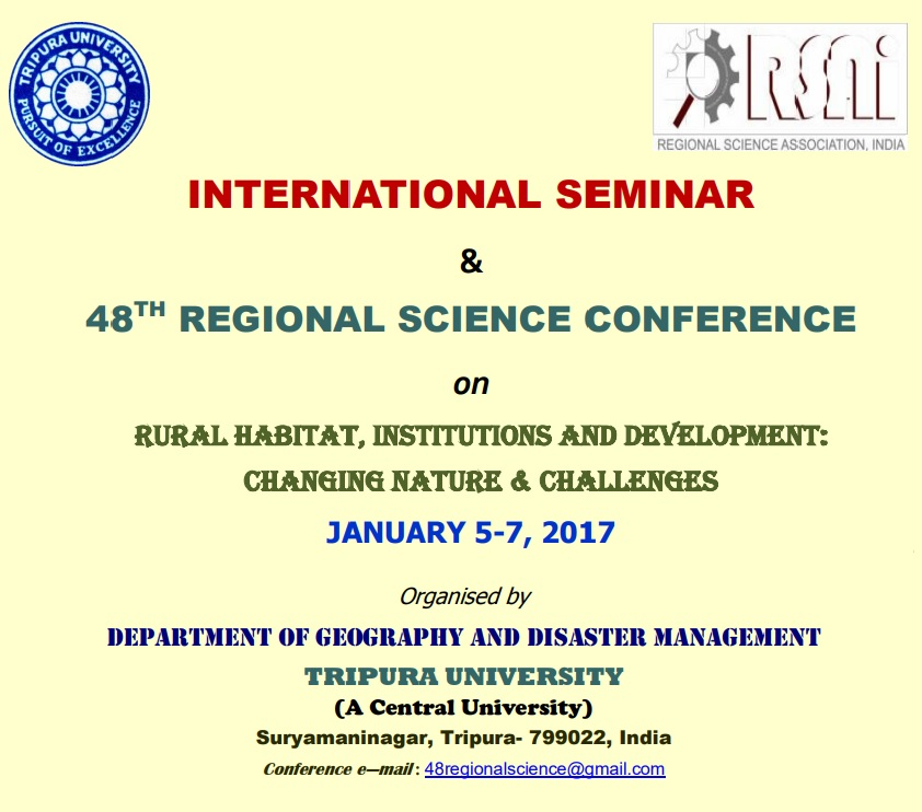 48TH REGIONAL SCIENCE CONFERENCE, INDIA