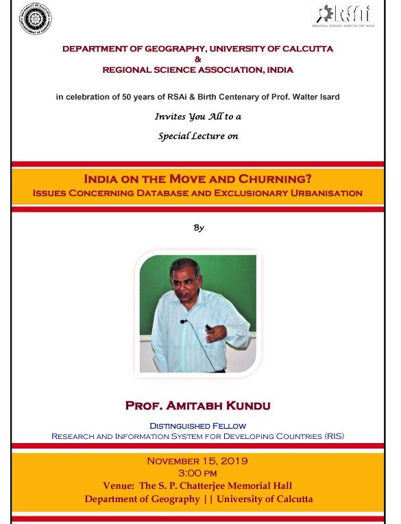 Special Lecture on 'India on the Move and Churning?'